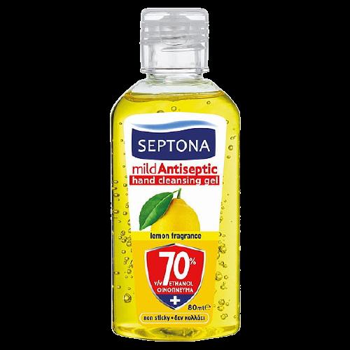 Septona Υγρό Αντισηπτικό Λεμόνι 80ml